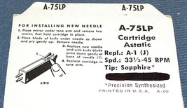 150-S1 PHONOGRAPH RECORD PLAYER NEEDLE STYLUS for ASTATIC A-1, A-1-J, A-1-M image 2