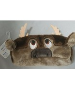 Disney Frozen 2 Pencil Case Sven Moose Faux Fur Brown - $9.89