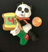 Hallmark 1999 Child's 4th Christmas Ornament Panda Bear Vintage 90s Keep... - $12.99