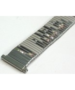 Vintage Watch Band 18mm to 22mm JB Champion Silver Stainless Steel Stretch - $14.25