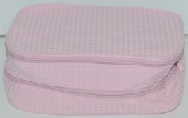 Terry Town CBW001 Waffle Weave Cosmetic Bag Color Light Pink image 1