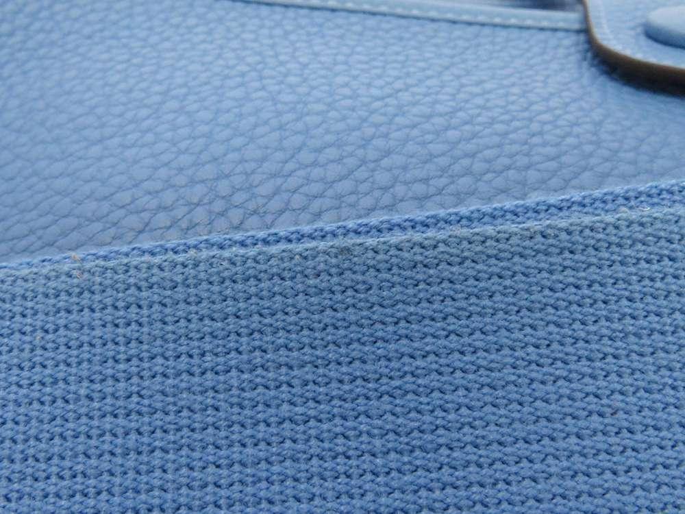 HERMES Evelyne 3 PM Taurillon Clemence Bleu Paradis Shoulder Bag #R Authentic image 6