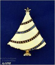 Signed Eisenberg Ice Christmas Tree Pin Patriotic Colors (#J1092) - $45.00