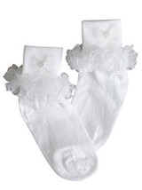 White Ruffled Girls Socks  - $6.00