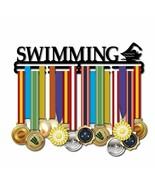 Nuevo Mejor Tipo Natación Medalla Soporte Metal Percha Pantalla Rack Dis... - $43.27