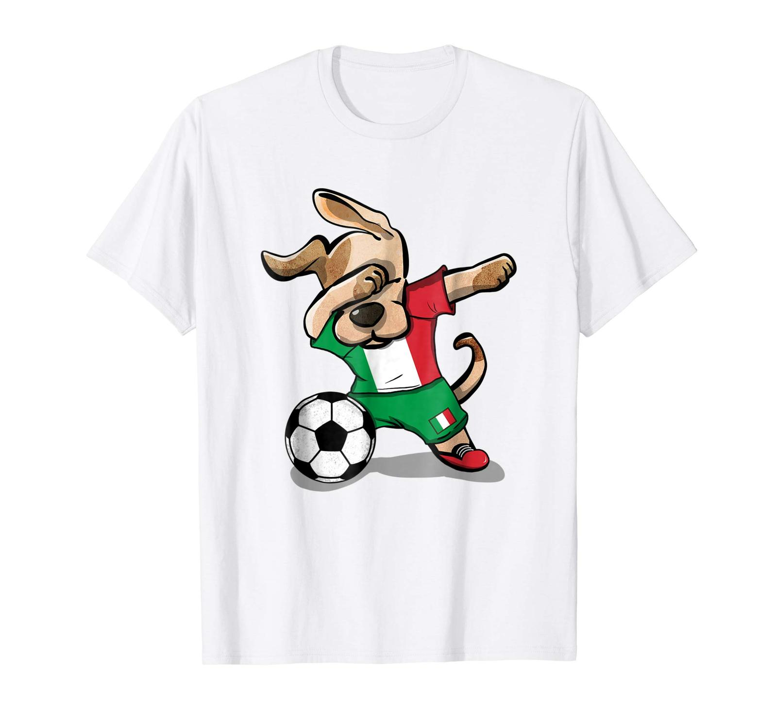 Primary image for New Shirts - Dog Dabbing Soccer Italy Jersey Shirt Italian Football 2018 Men