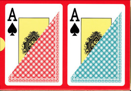CHIPS and GAMES Plastic Playing Cards 2 Decks Poker Size Jumbo (Free 2-D... - $17.84
