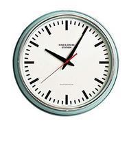 Mooas London Vintage Round Mint Wall Clock Silent Quartz Decorative Modern Round