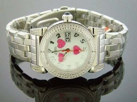 LADY AQUA MASTER ROUND WITH 16 DIAMONDS WATCH Love Dial - $158.39