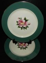 2 Homer Laughlin Century Service Empire Green Dinner Plates  Alliance Ohio USA - $29.69