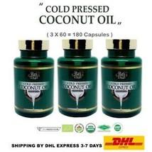 3X Rai Thai Cold Pressed Coconut Oil Organic 100% Natural Therapy Heathy... - $158.26