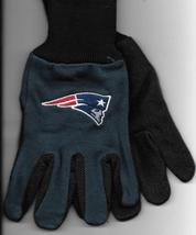 New England Patriots team Sport Utility Gloves blk blue garden NFL Footb... - $17.77