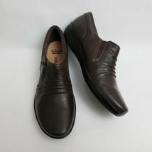 Clarks Womens Shoes Soft Cushion Slip On Brown Everlay Coda Size US 9.5 M EU 41 - $49.45