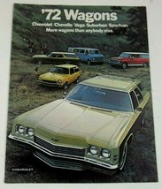 Chevrolet 1972 Wagon Kingswood Vega Chevelle Stationwagon Sales Brochure  - $10.99