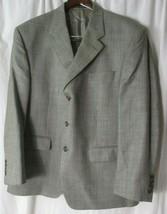 Ralph Lauren Mens Gray Sports Coat Blazer Suit Jacket Size 44S  (Blue Label) - $39.59