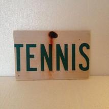 Tennis - Item 2588 - Rustic Wood Decoupage Sign - Weathered Style  - Siz... - $27.50