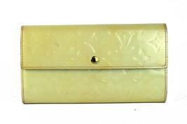 Auth LOUIS VUITTON Vernis Patent Leather Yellow Portfolio Long Wallet Pu... - $187.11