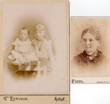 Vanderbogart Family (2) Photos Arthur, Flora, Mother of Floyd - Ithaca NY - $19.75