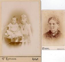 Vanderbogart Family (2) Photos Arthur, Flora, Mother of Floyd - Ithaca NY - $19.75