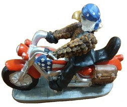 Born To Ride American Eagle Flag Motorcycle Harley Biker Statue Figurine - $29.99