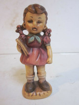 VINTAGE 1981 B. SUMME HAND PAINTED CERAMIC GIRL HOLDING BOOK FIGURINE - $9.99