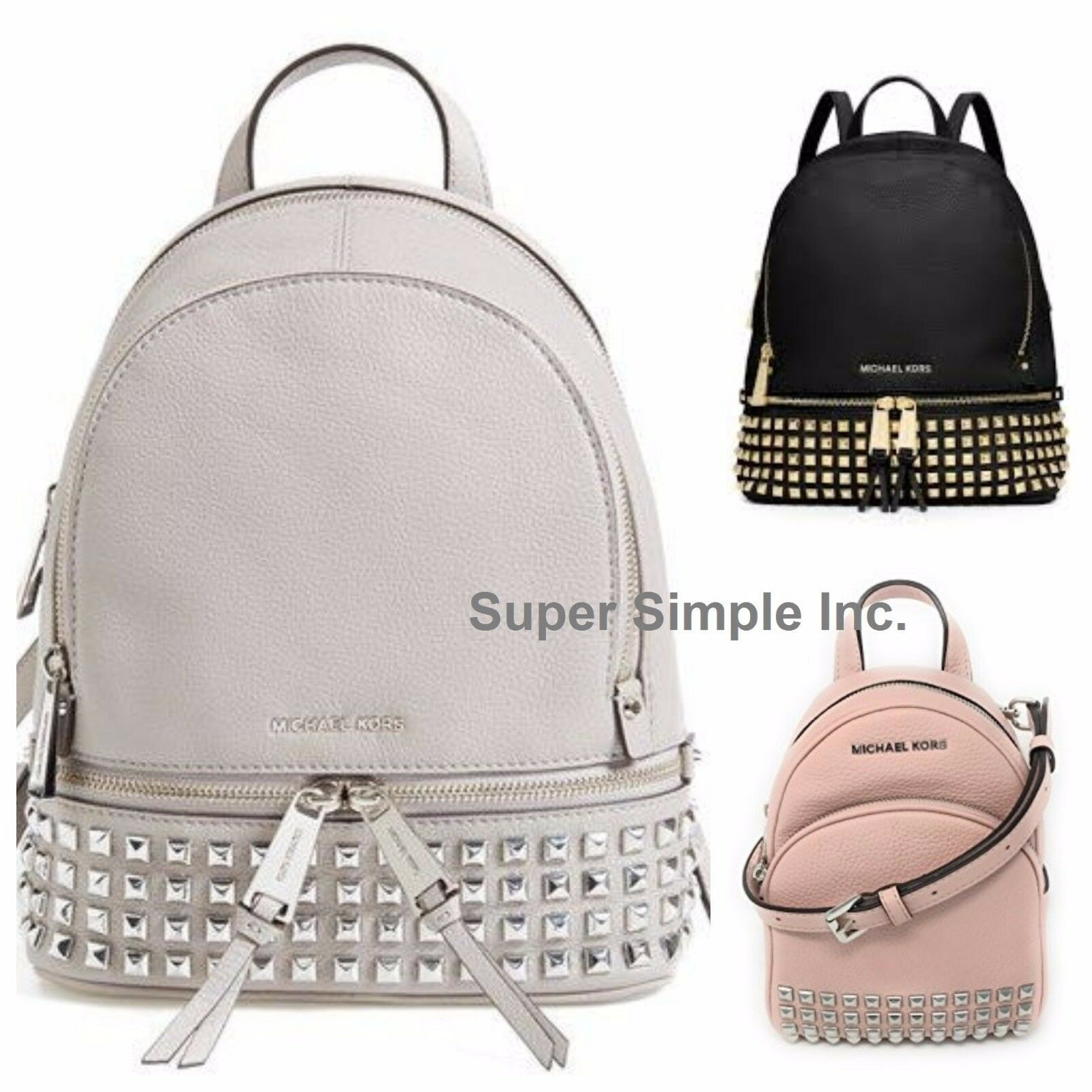 Primary image for NWT Michael Kors Abbey XSmall Studded Backpack Crossbody New $348