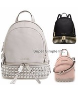 NWT Michael Kors Abbey XSmall Studded Backpack Crossbody New $348 - $139.95