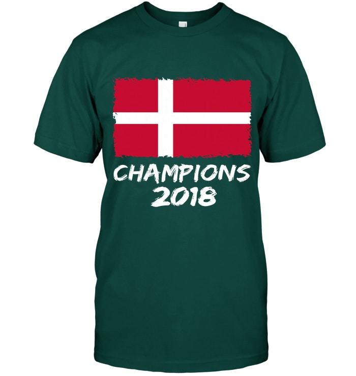 Denmark Champions 2018 Football Jersey Soccer Shirt Danish
