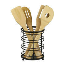Home Basics Flat Wire Cutlery and Utensil Holder Black - $11.59