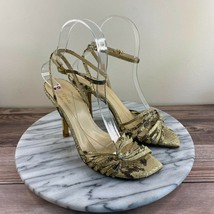 Kate Spade Italia Gold Snakeskin Strappy Heels Womens Size 6.5 - $39.95