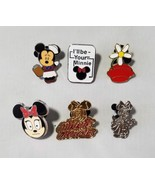 Disney Trading Pins Minnie Mouse Collectible Official Lanyard Pin Lot 6 - $36.82