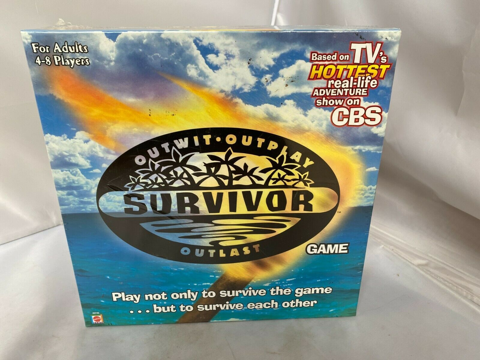 Primary image for Survivor Board Game Outwit Outplay Outlast (2000) **NEW/SEALED** No damage