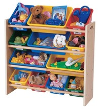 Tot Tutors Toy Organizer Kids Playroom Storage Bin Primary Colors Book Box New - $67.98