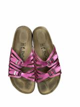 Birkenstock Bertula Pink Metallic Sandals Shoes Comfort Size 10 - $57.95