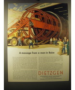 1953 Eugene Dietzgen Co. Ad - A message from a man in Boise - $14.99