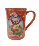 Disney Store Tigger Coffee Mug Sagittarius Orange Iridescent Astrology Tall - $23.75