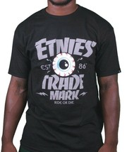 Etnies Skateboarding Mens Black Trademark Ride or Die T-Shirt Small NWT
