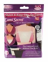 Cami Secret Clip On Mock Camisoles Neutrals (3 Pack) - $16.36