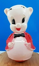 "Vintage Porky Pig Roly Poly Musical Blow Mold Toy Warner Bros 11"" - $23.14"
