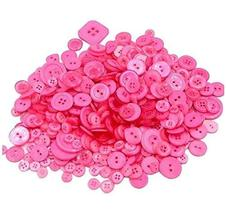 660 Pieces Resin Buttons for Sewing Craft DIY Handmade [Pink] - £9.90 GBP