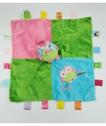 Taggies Mary Meyer OWL Baby Lovey & Security Blanket Girl Pink Teal Gree... - $19.99