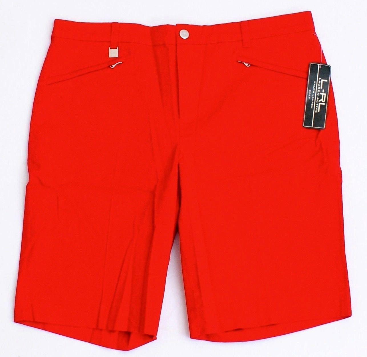 Lauren Active Ralph Lauren Golf Red Cotton Stretch Golf Shorts Women's NWT - $48.74
