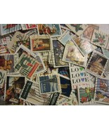 """NICE OLDER CHRISTMAS AND LOVE STAMP HOARD """"ALL DIFFERENT USED USA"""" FREE ... - $3.95"""
