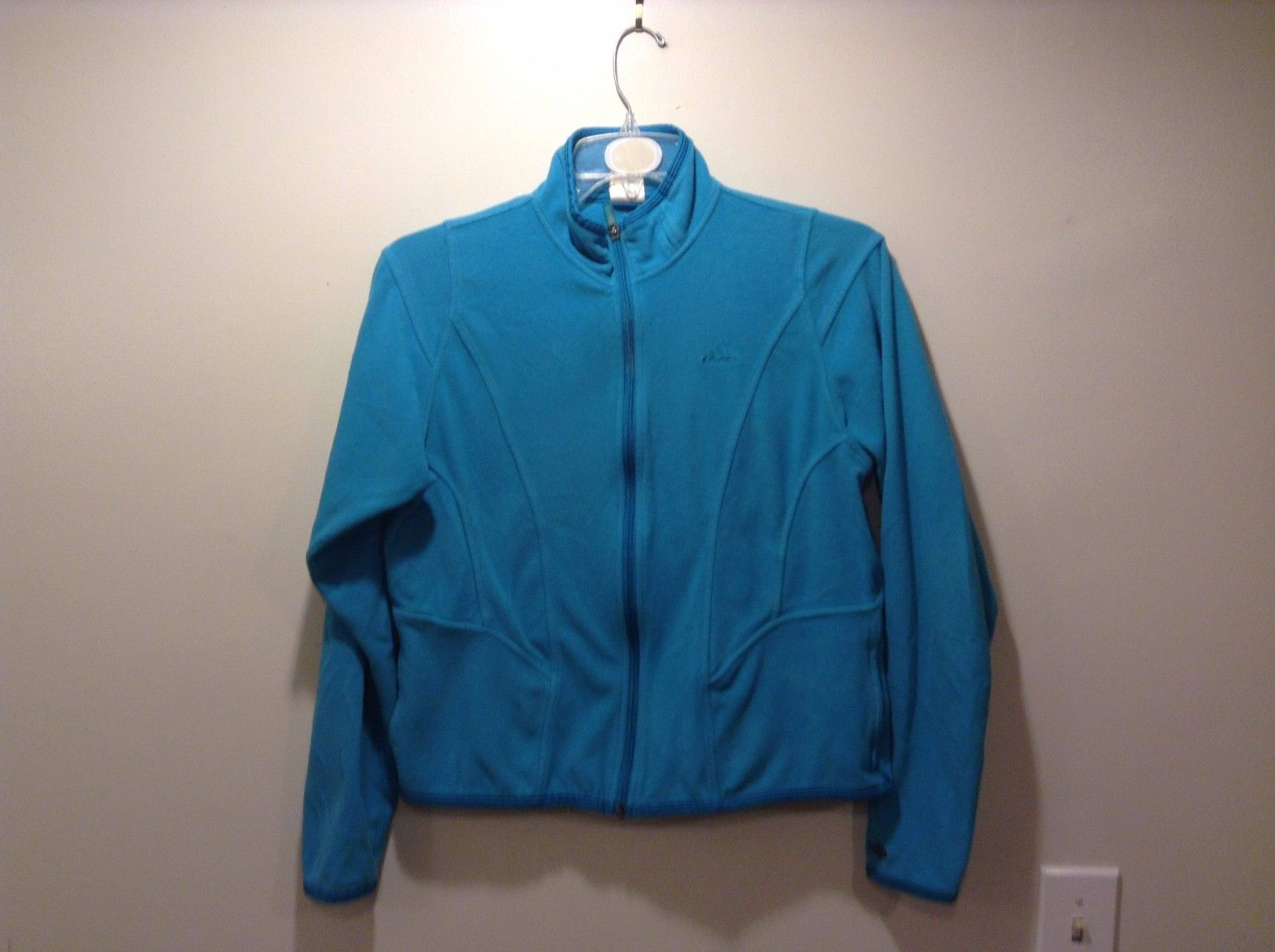 Adidas Cozy Warm Fleece Zip Up Teal Colored Jacket