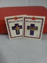 Lot of 2, Gold Cross/ Rose & Child of God Believer  Pins Singer, Gold Pl... - $9.89