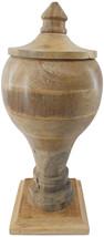 Decorative Mango Wood Urban Garden Display Lidded Jar 11' Tall Center Pi... - $109.70