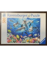 Ravensburger 500 Pc Puzzle - Dolphin in Coral Reef - 49 x 36 Ocean Sea A... - $14.90