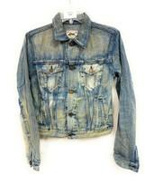 Women's Ralph Lauren Distressed Jean Jacket Small Ripped Cut Open Rare - $39.59