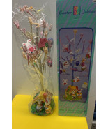 Easter Jubilee Colorful Easter Tree w/Bunnies Eggs Ornaments & FREE Russ... - $29.08
