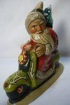 Vaillancourt Folk Art 2014 Starlight Santa on Scooter Personally Signed by Judi! image 4